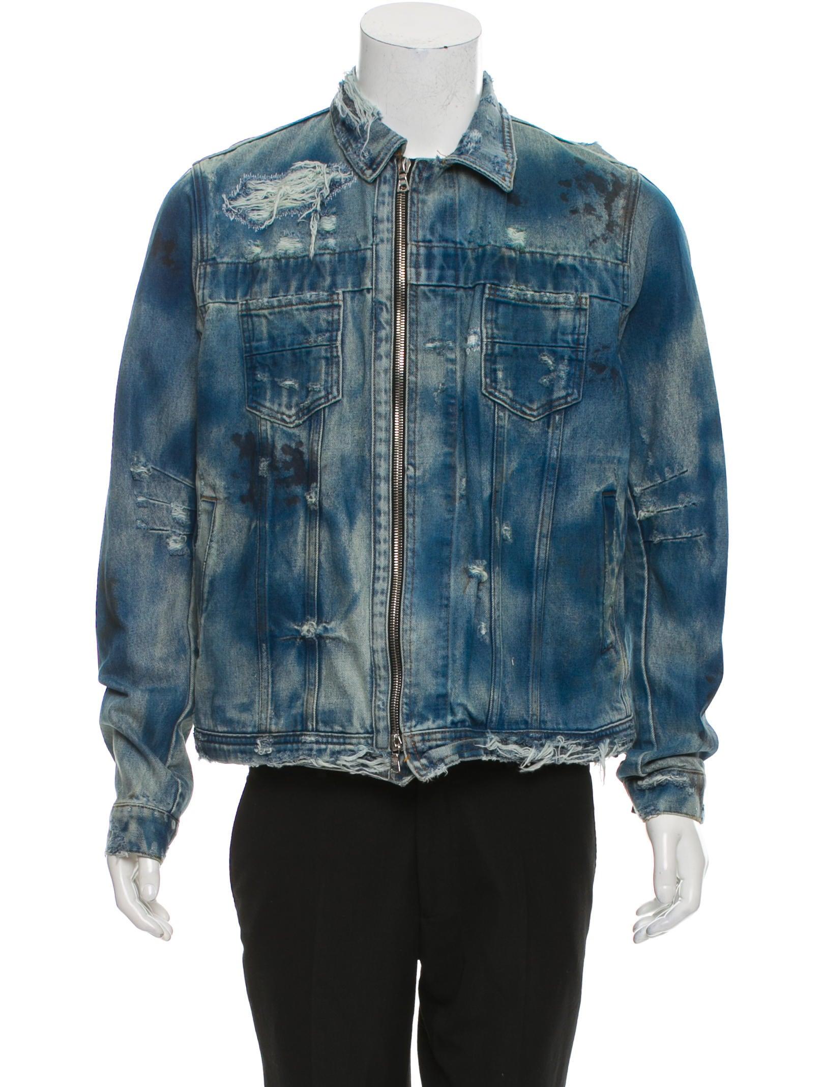 e62deb2554 Amiri Distressed Denim Jacket w  Tags - Clothing - AMIRI20310