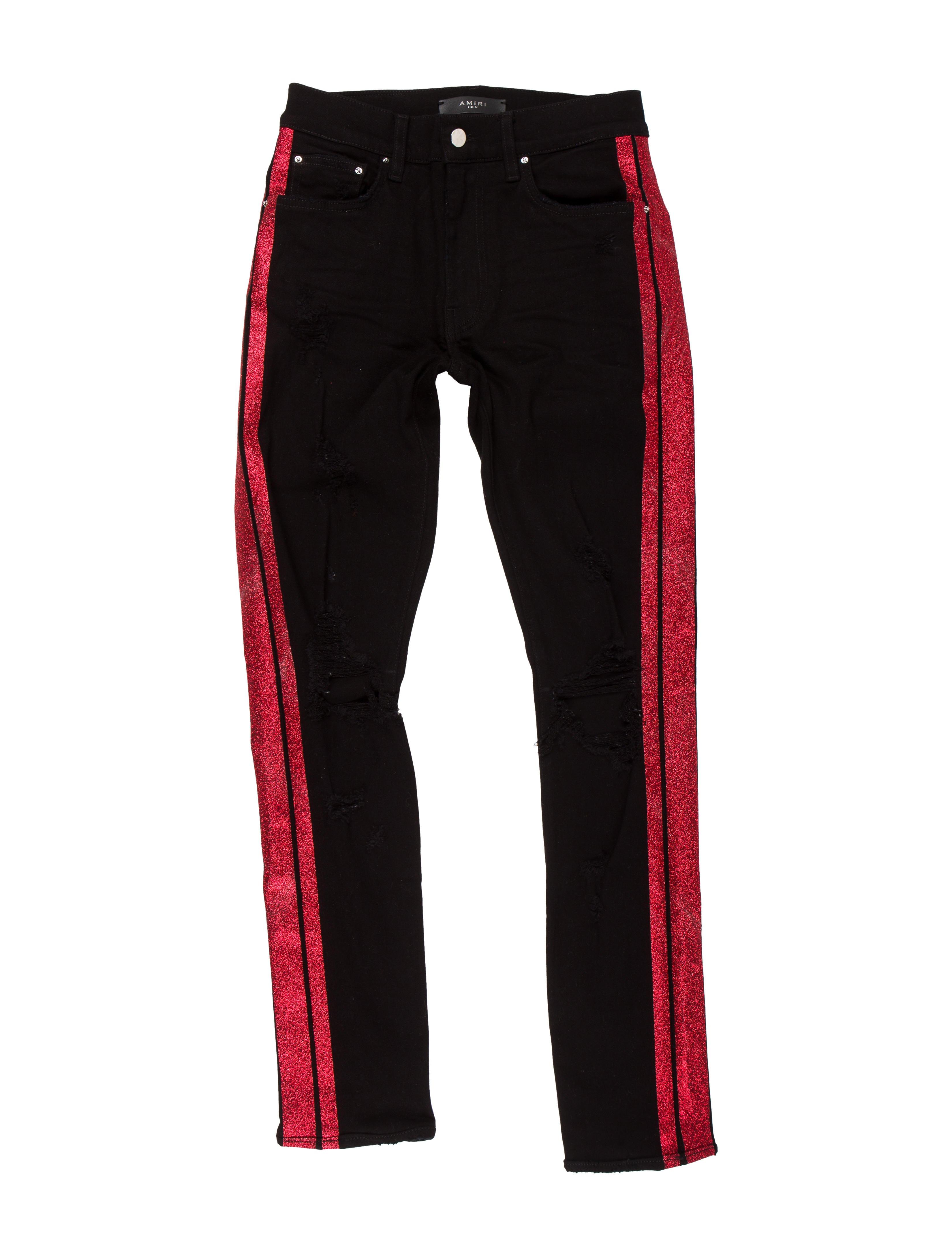 65f956ed650 Amiri Glitter Track Jeans - Clothing - AMIRI21212   The RealReal