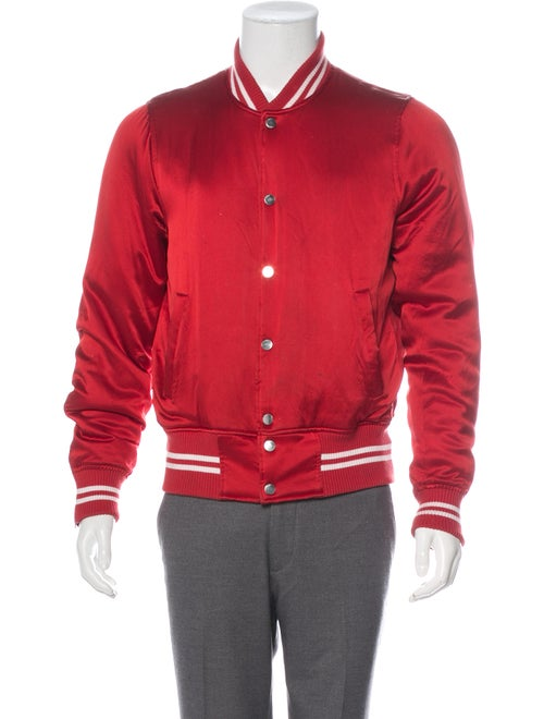 Amiri Silk Bomber Jacket red