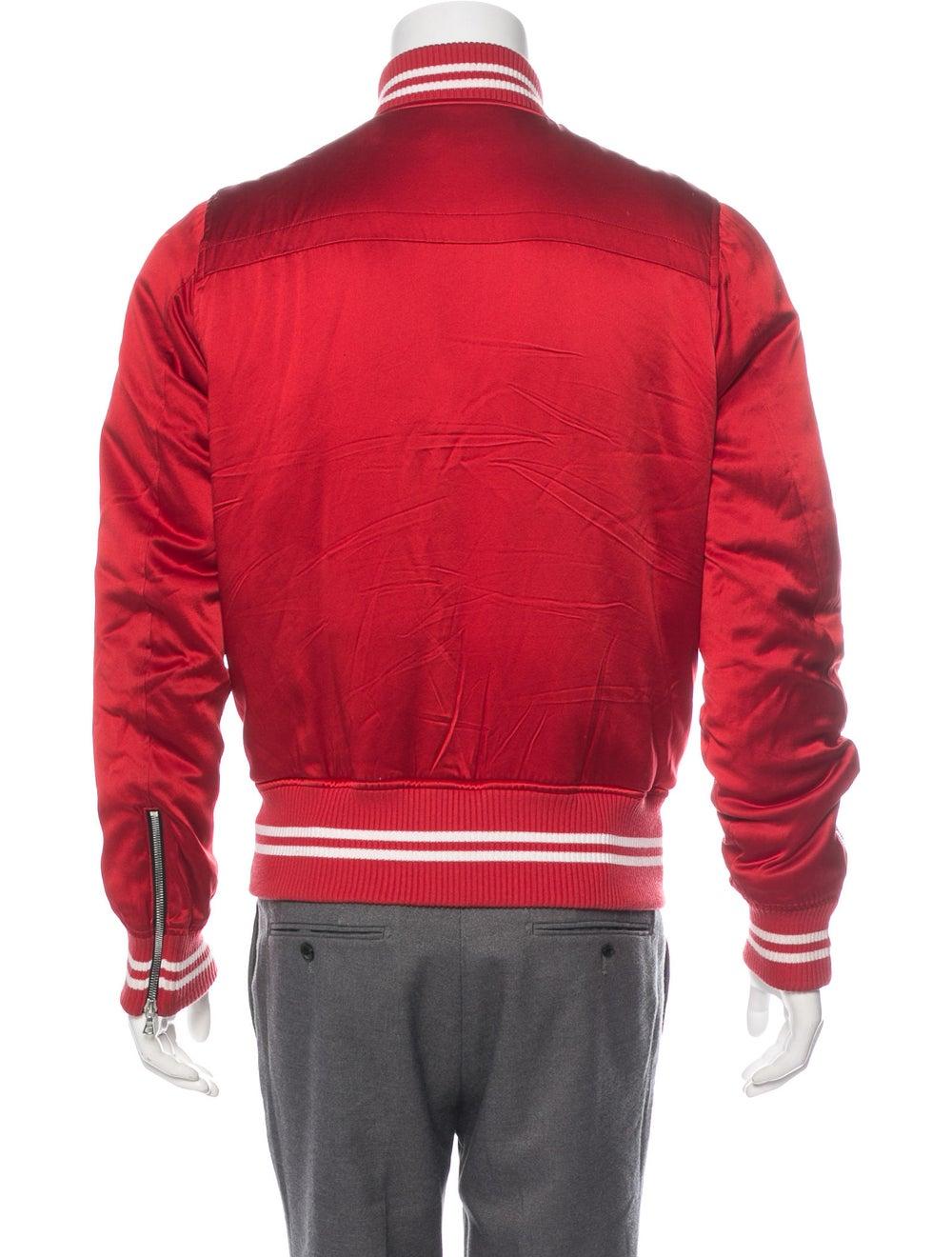 Amiri Silk Bomber Jacket red - image 3