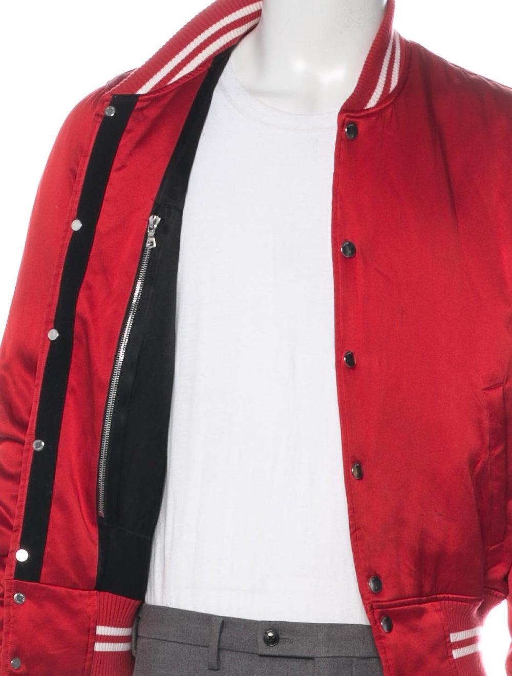 Amiri Silk Bomber Jacket red - image 4