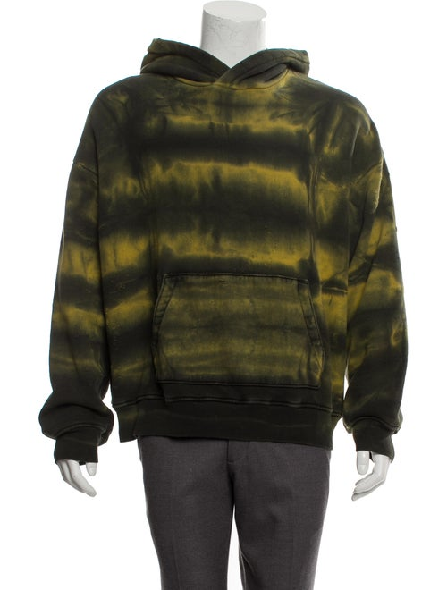 Amiri Distressed Tie-Dye Sweatshirt green
