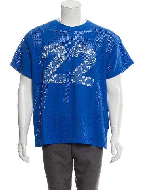 Amiri Twenty-Two Mesh Tee w/ Tags blue