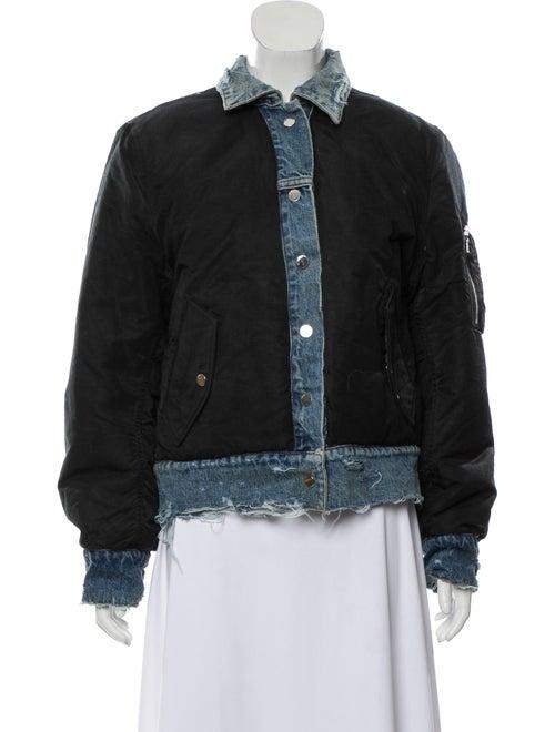 Amiri Reverse Trucker Bomber Jacket Black