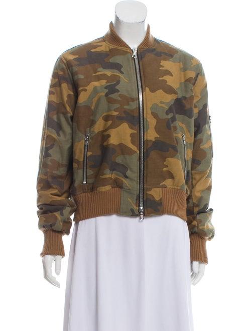 Amiri Camouflage Bomber Jacket Olive