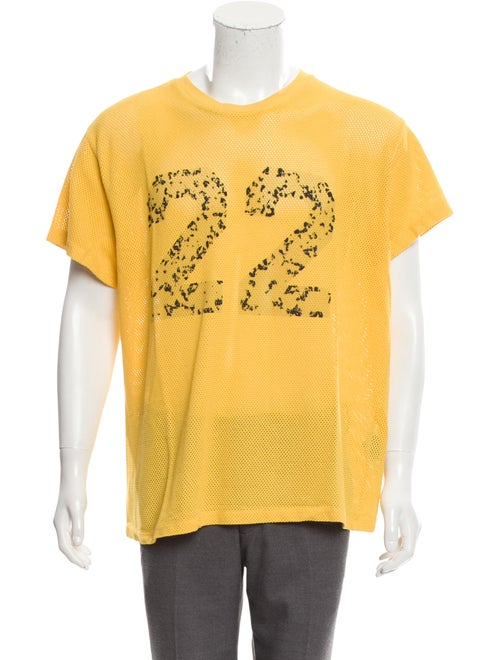 Amiri Twenty-Two Mesh Tee w/ Tags yellow