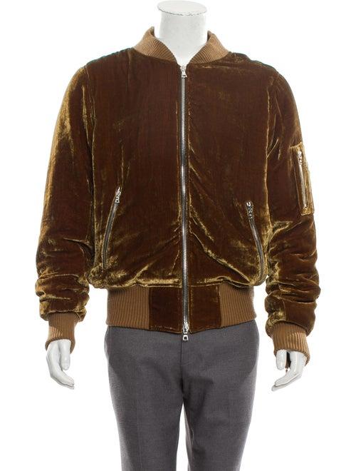 Amiri Velvet Bomber Jacket w/ Tags gold