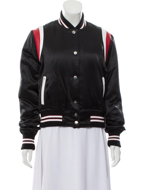 Amiri Silk Varsity Jacket Black