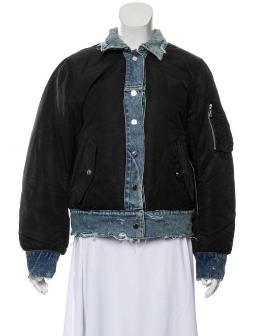 Amiri Reverse Trucker Bomber Jacket w/ Tags Black