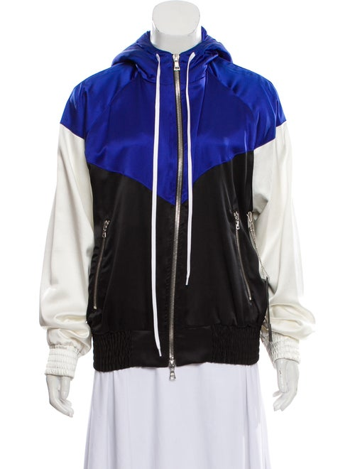 Amiri Silk Colorblock Jacket Blue