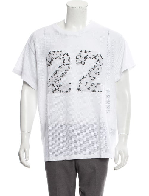 Amiri Twenty-Two Mesh Tee w/ Tags white