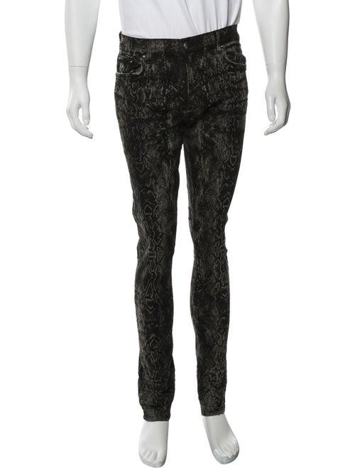 Amiri Printed Skinny Jeans w/ Tags black