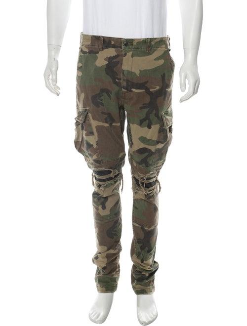 Amiri Camouflage Cargo Pants green