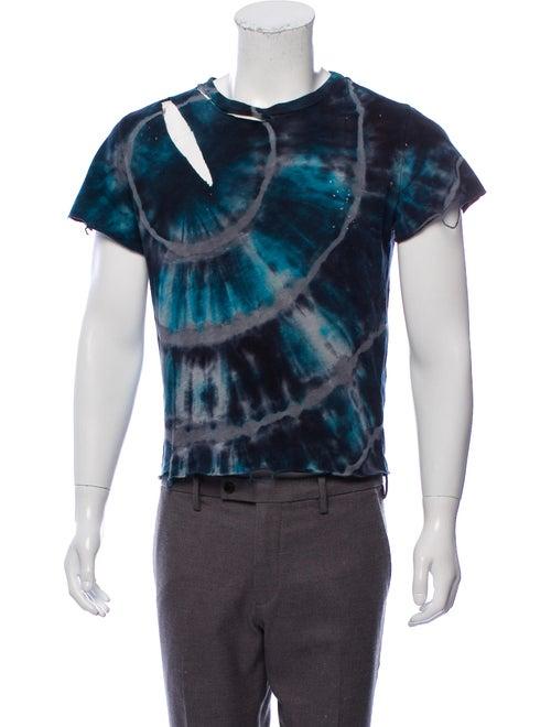 Amiri Distressed Tie-Dye T-Shirt navy