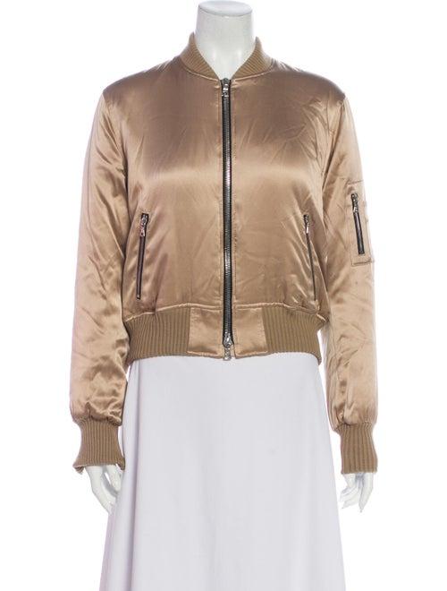 Amiri Silk Bomber Jacket Gold