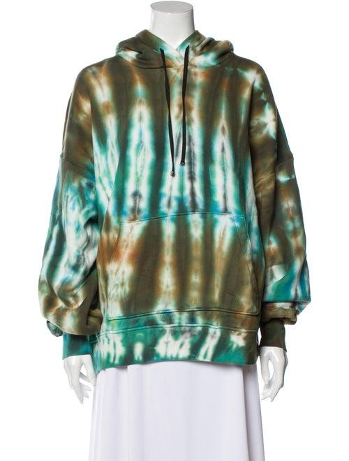Amiri Tie-Dye Print Crew Neck Sweatshirt Green