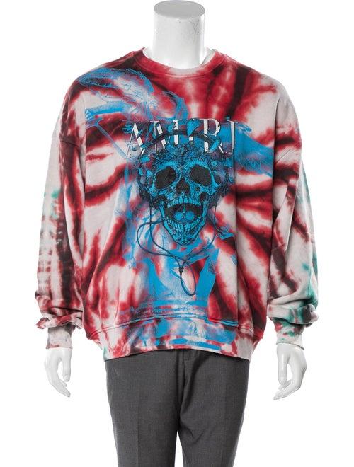 Amiri Tie-Dye Skull Sweatshirt Tie-Dye Print Sweat