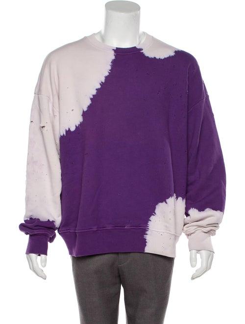 Amiri Shotgun Bleached Tie-Dye Print Sweatshirt Pu