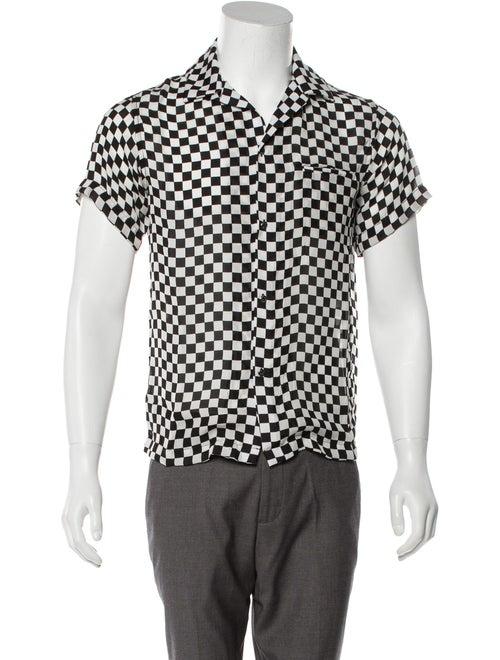 Amiri Silk Checkered Shirt Silk Shirt Black