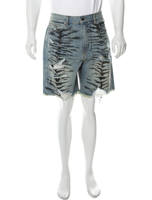 Amiri Thrasher Track Shorts Denim Shorts w/ Tags D