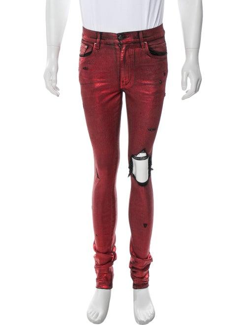 Amiri Foil Broken Skinny Jeans Skinny Jeans w/ Tag