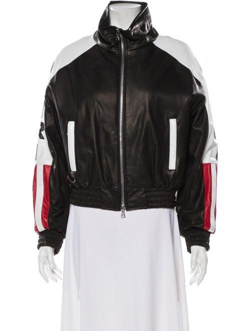 Amiri Leather Bomber Jacket w/ Tags Black