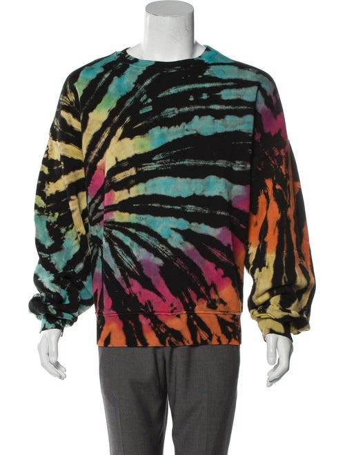 Amiri Tie Dye Crew Neck Sweatshirt w/ Tags blue