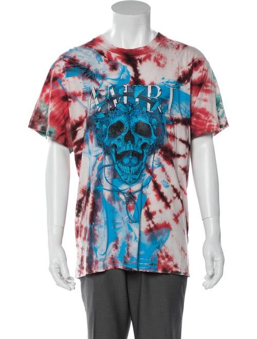 Amiri Tie Dye Skull Tie-Dye Print T-Shirt w/ Tags… - image 1