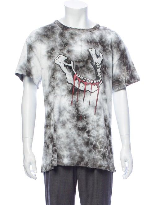 Amiri Tie-Dye Print Graphic T-Shirt grey