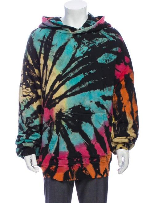 Amiri Tie Dye Hooded Sweatshirt black