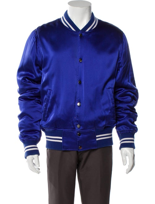 Amiri Silk Varsity Jacket Blue