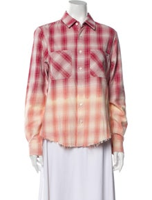 Amiri Plaid Print Long Sleeve Button-Up Top w/ Tags