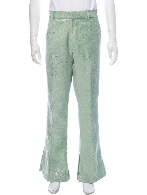 Amiri Printed Dress Pants Green