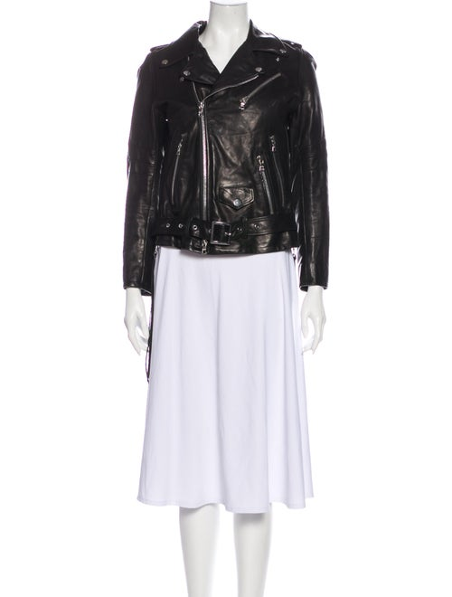 Amiri Leather Biker Jacket Black