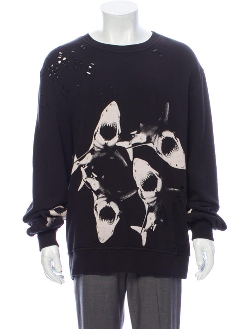 Amiri Graphic Print Crew Neck Sweatshirt Black