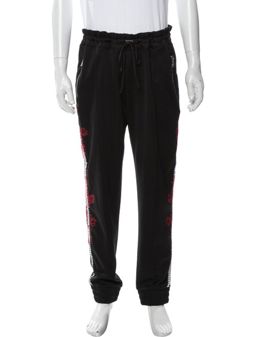 Amiri Graphic Print Joggers Black