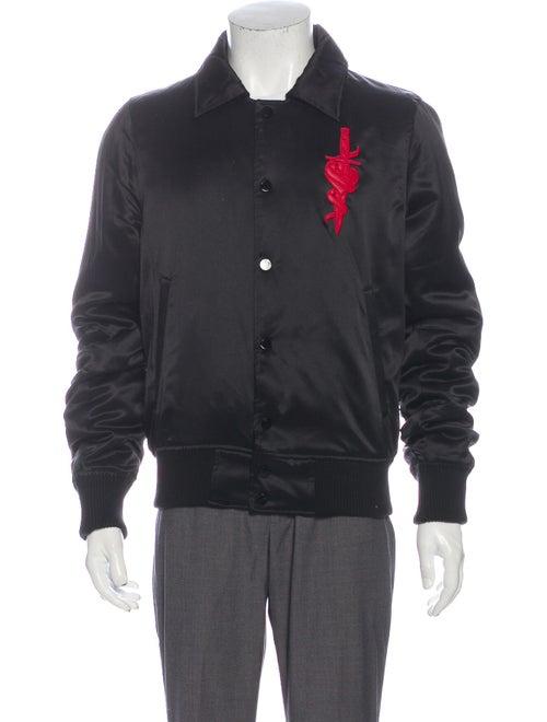 Amiri Silk Graphic Print Jacket Black