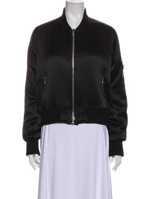 Amiri Silk Bomber Jacket Black