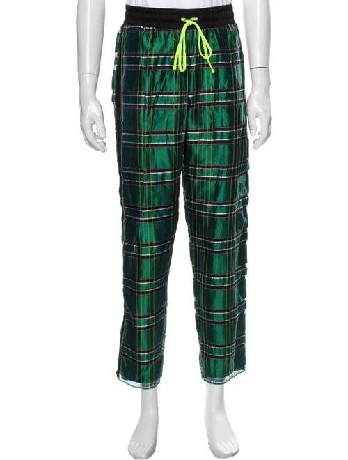 Amiri Silk Pants Green