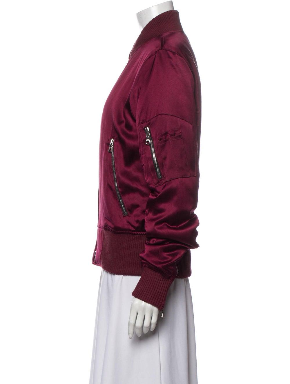 Amiri Silk Bomber Jacket Red - image 2