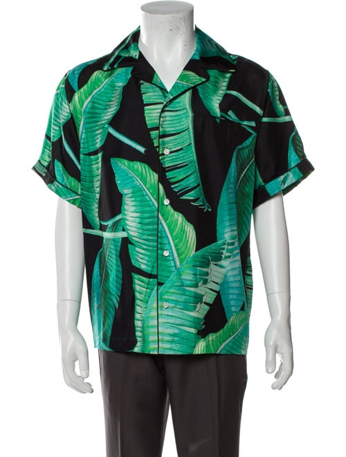 Amiri Silk Printed Shirt w/ Tags Green - image 1