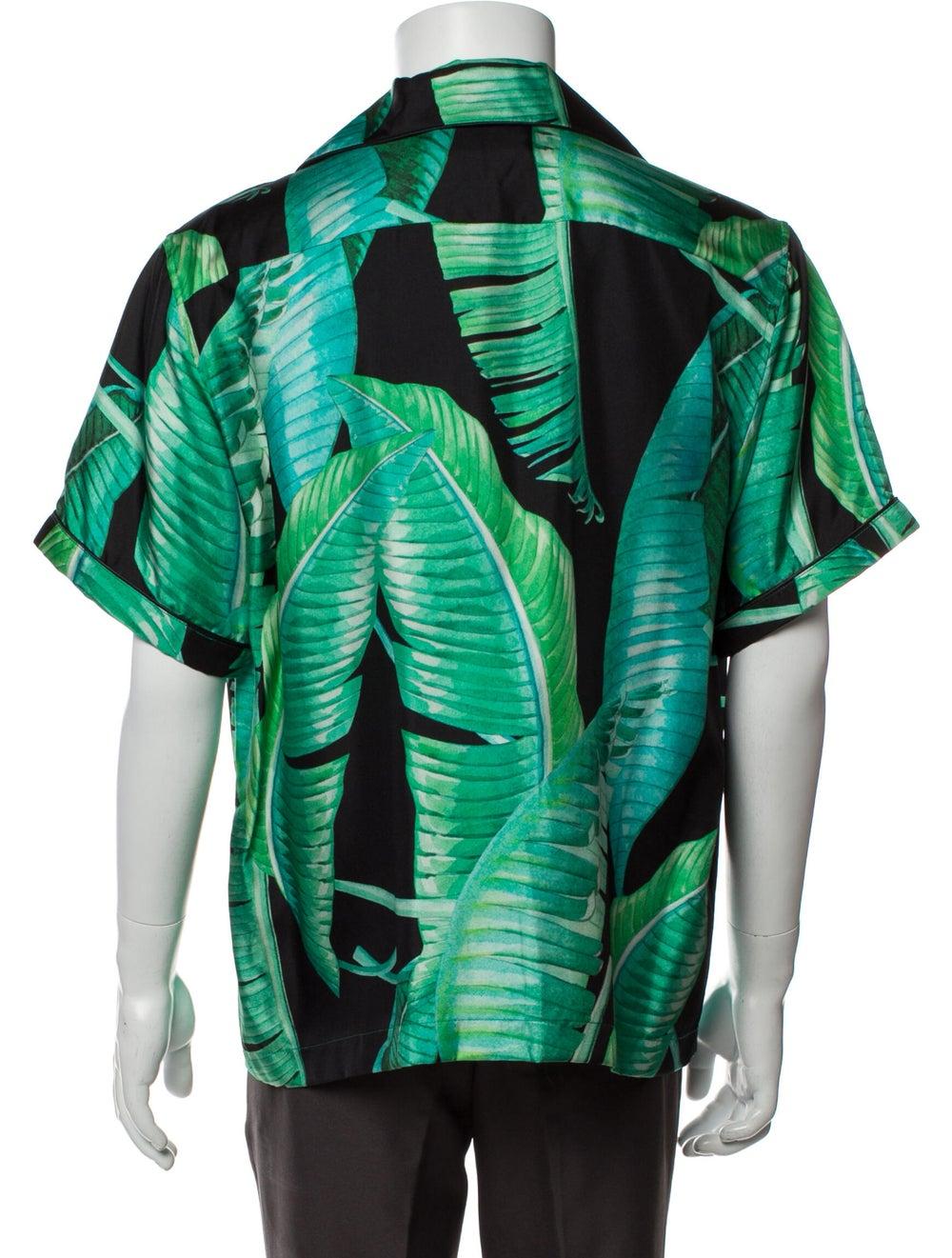 Amiri Silk Printed Shirt w/ Tags Green - image 3