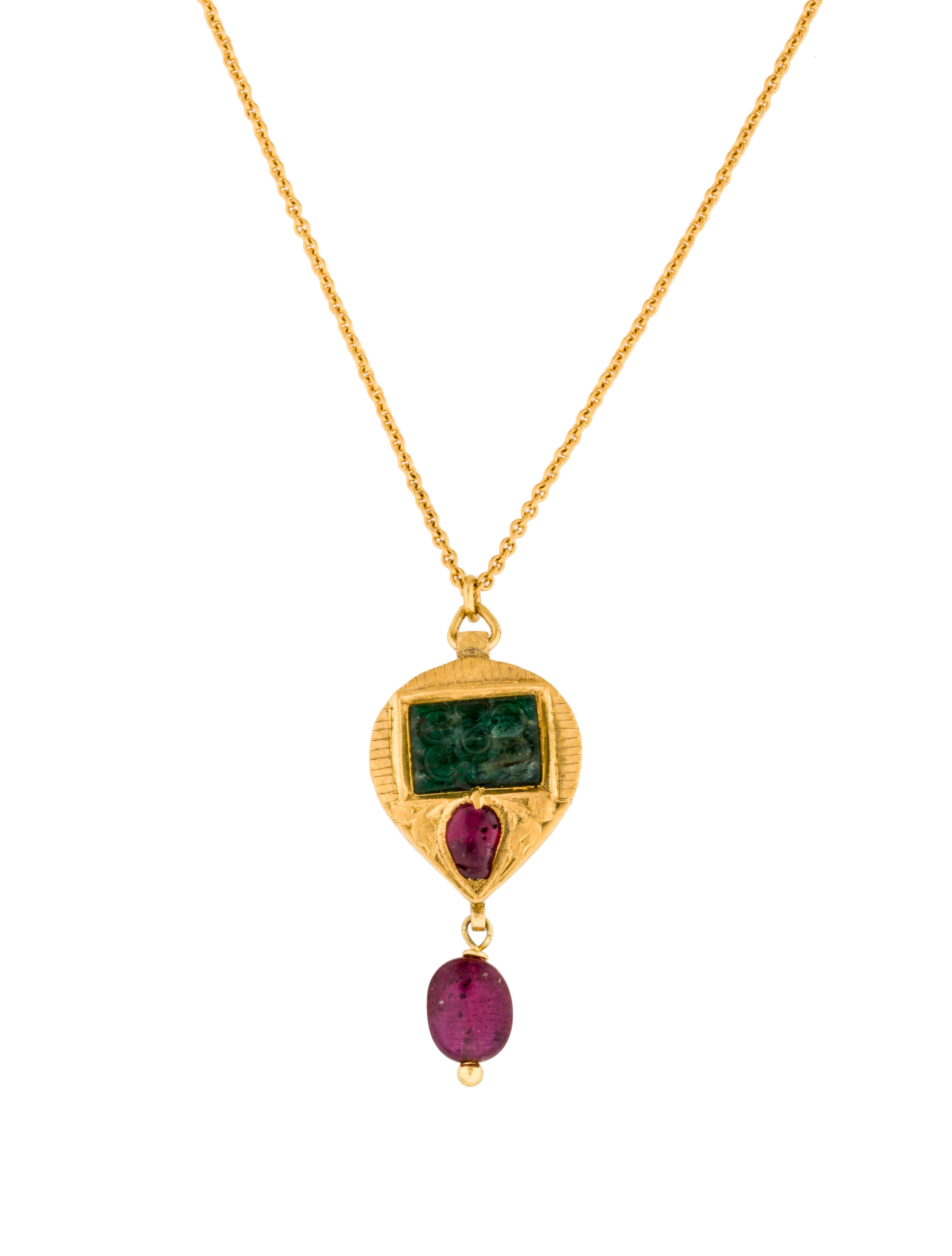 pendant stone products diamond yg in emerald collection tresor triple