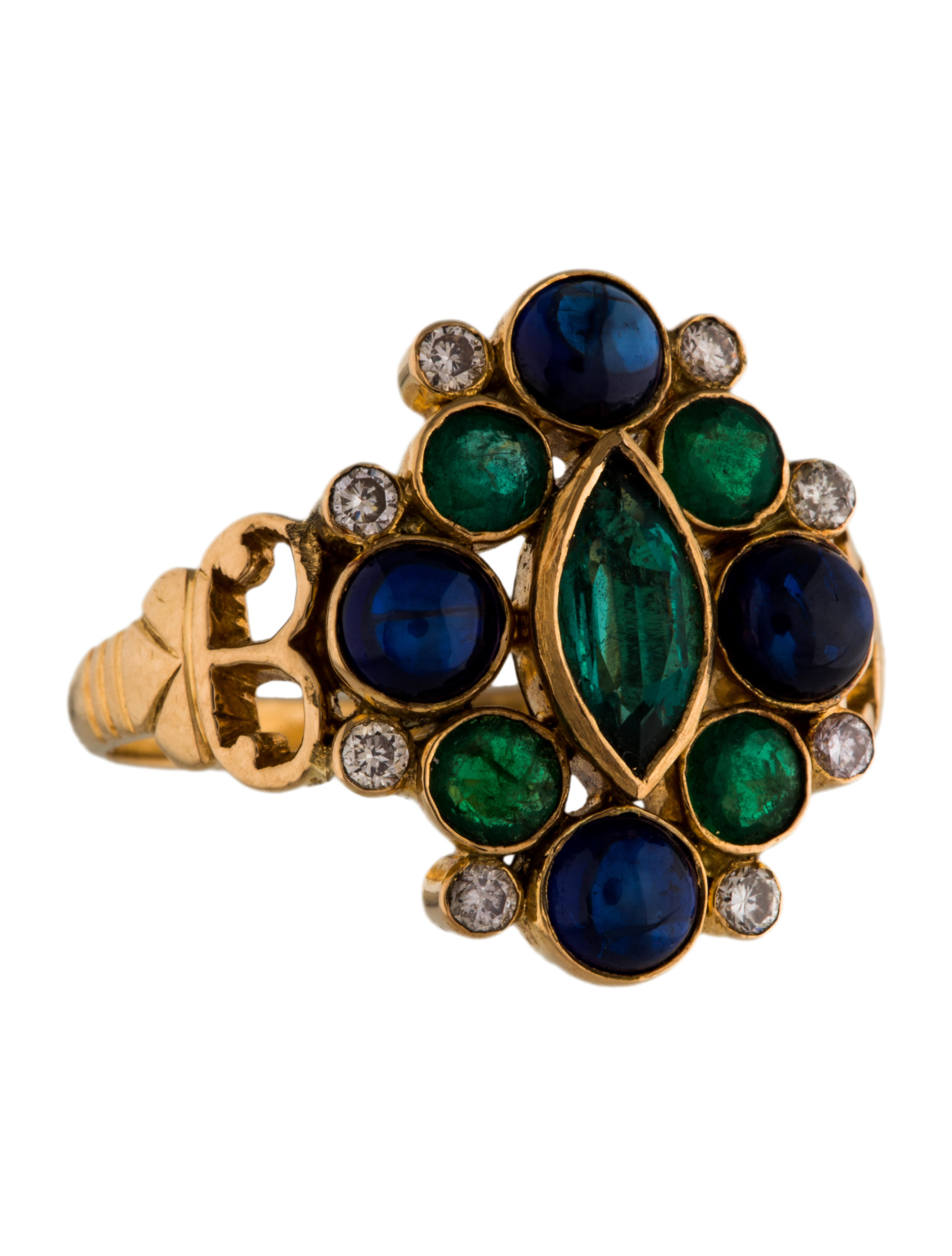 amrapali 18k emerald sapphire diamond ring rings. Black Bedroom Furniture Sets. Home Design Ideas