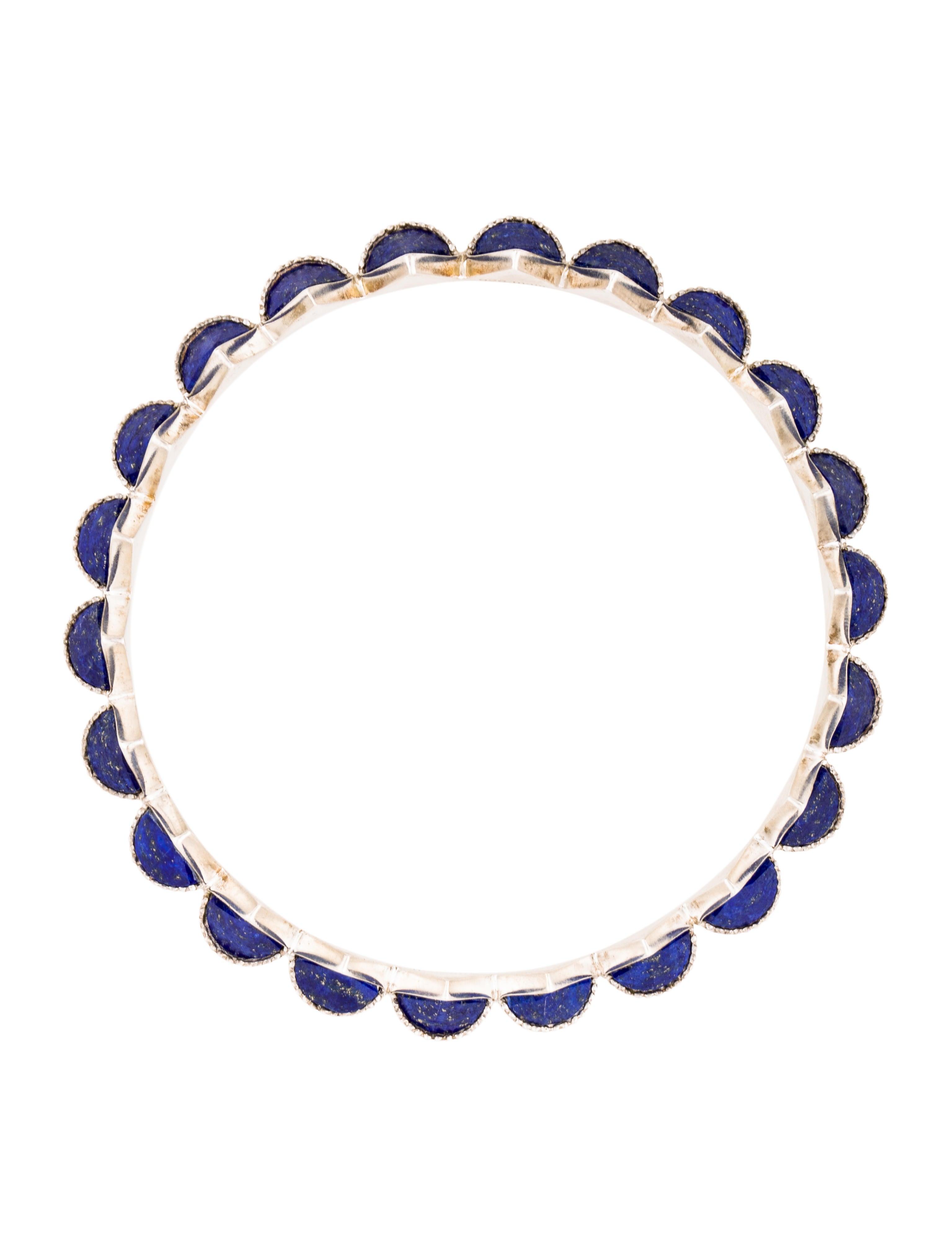 amrapali lapis lazuli spike all around bangle bracelet bracelets amr20078 the realreal. Black Bedroom Furniture Sets. Home Design Ideas
