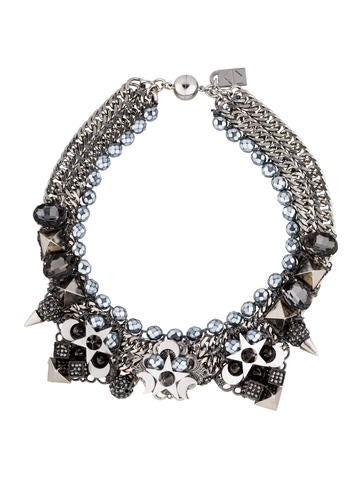Crystal Collar Moon Necklace