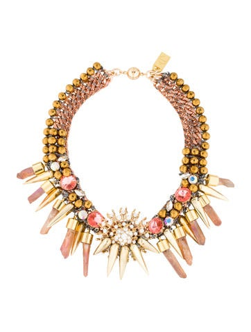 Multi-Chain Crystal Collar Necklace