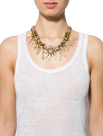 Multistrand Chain-link Crystal Necklace
