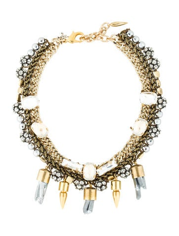 Multistrand Quartz and Crystal Necklace
