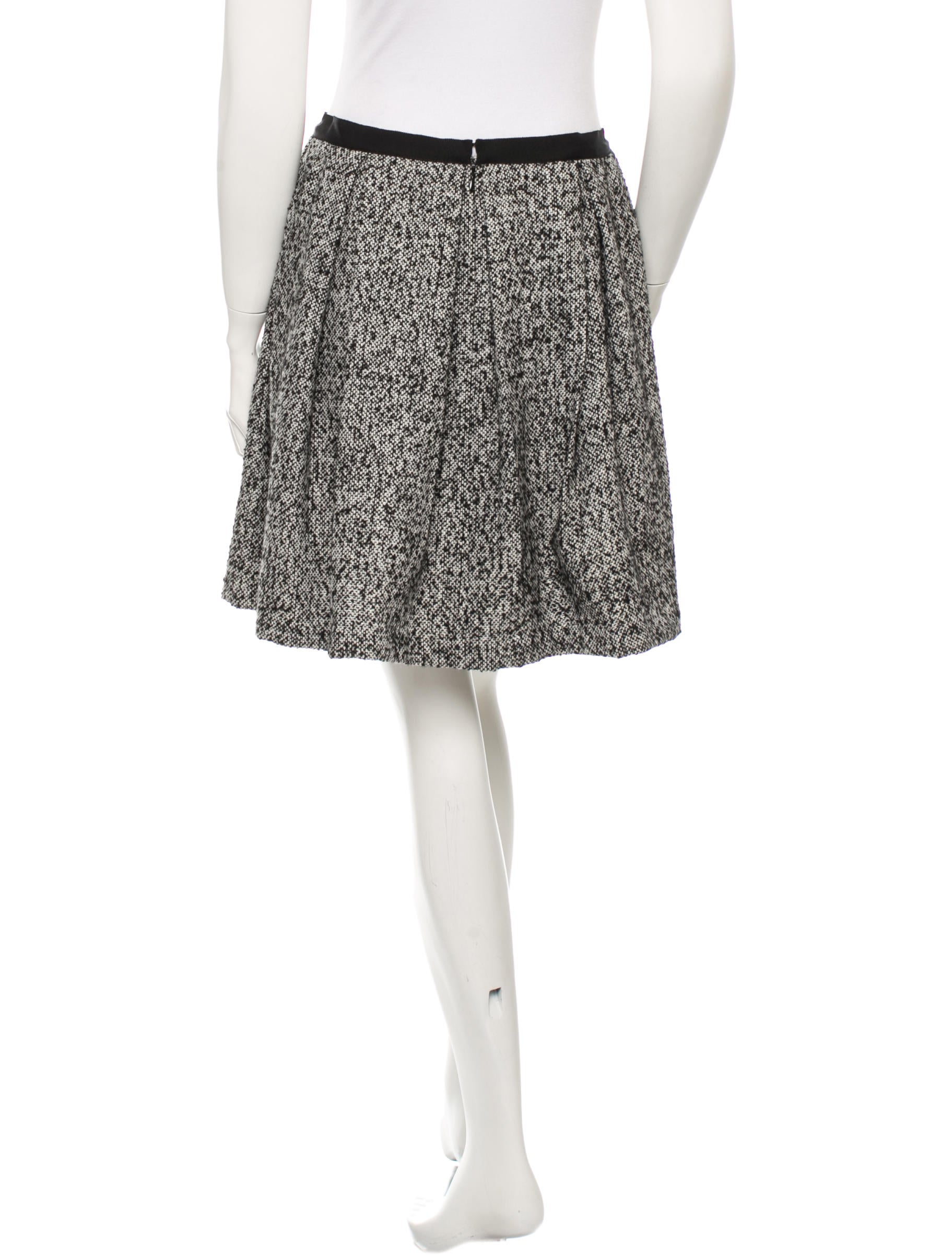 sui pleated tweed skirt clothing ana21224 the